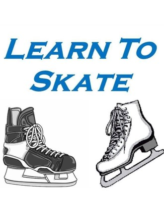 Ice skates with words learn to skate